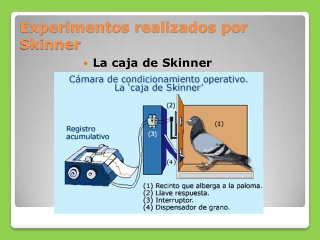 Skinner. Condicionamiento Operante