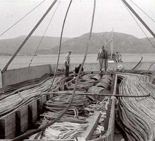 1866, Cableado telegráfico trasatlántico