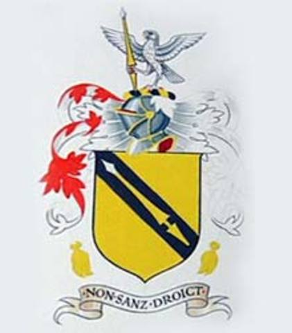 Shakespeare's family received coat-of-arms.