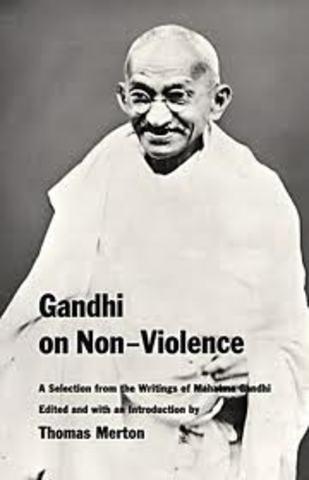 Gandhi's travels stressing nonviolent resistance