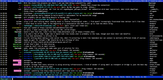 IRC software invented
