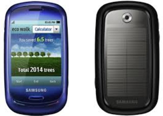 Teléfono con tecnología solar