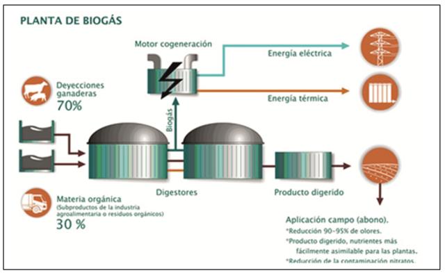 Gas hidrógeno de materia biodegradable u organicas
