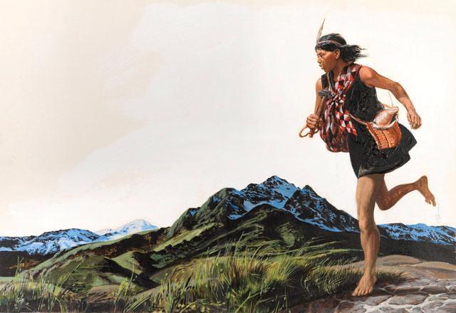 Hombres a pie Aztecas 1500s