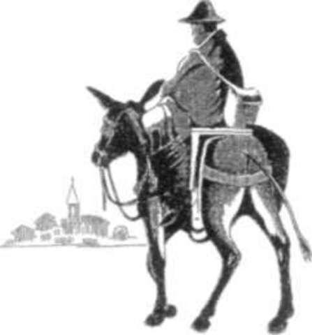 Mensajería vía caballos 1860