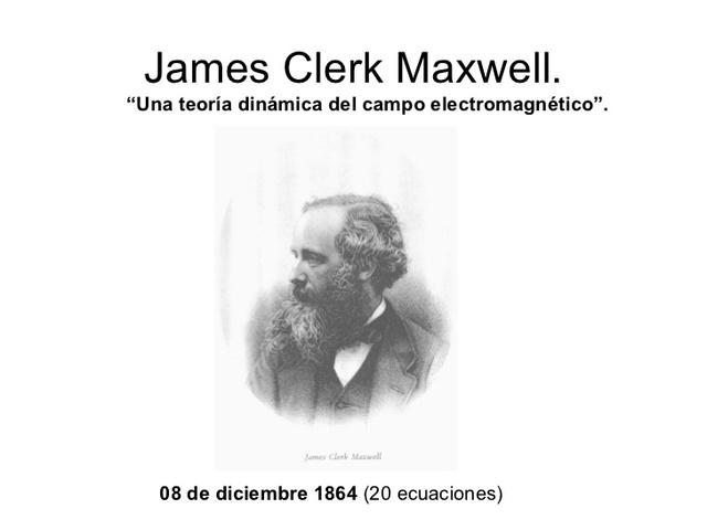 Teoría Dinámica del campo electromagnético 1864