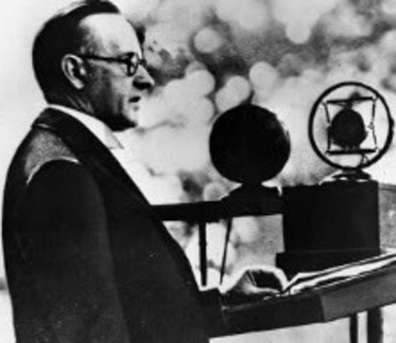 First political speech on radio