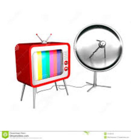 TV vía satélital 1976