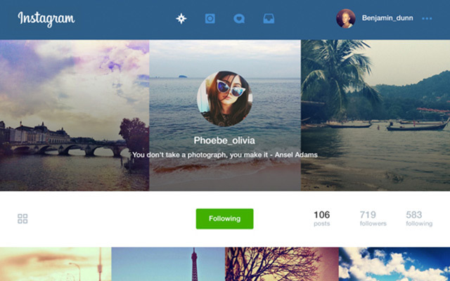Instagram Re-Designs for Web