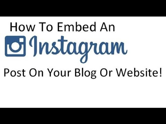 Instagram posts can be embedded