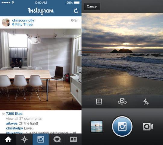 Instagram Updates for iOS7