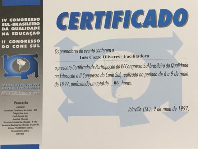 Congresso Sul Brasileiro de Qualidade e Educação