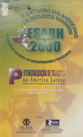 IX Encontro Sul-Americano de RH ESARH
