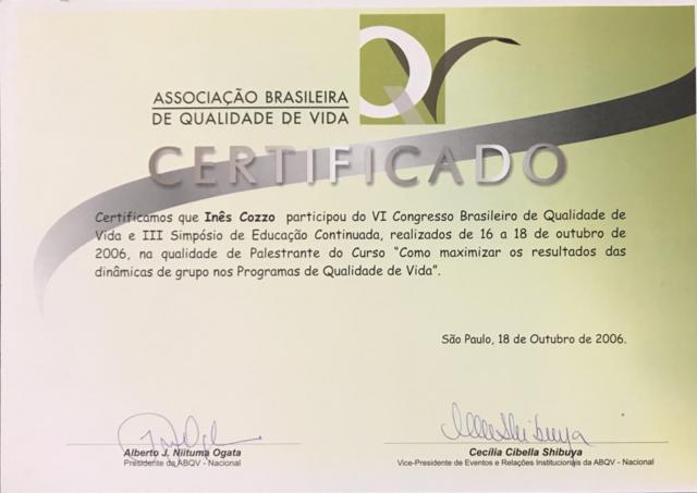 VI Congresso Brasileiro de Qualidade de Vida