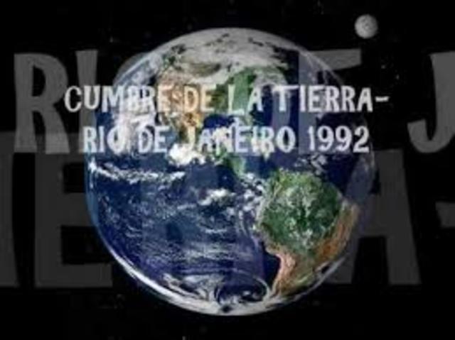 """Cumbre de la Tierra"" realizada en 1992"