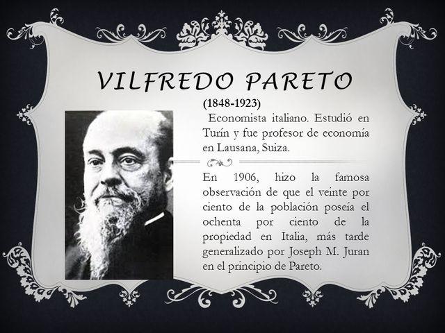Vilfredo Federico Pareto(15/07/1848-1923)