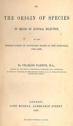 Publicacion El Origen de las Especies