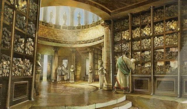 Construcción de la Biblioteca Real de Alejandria