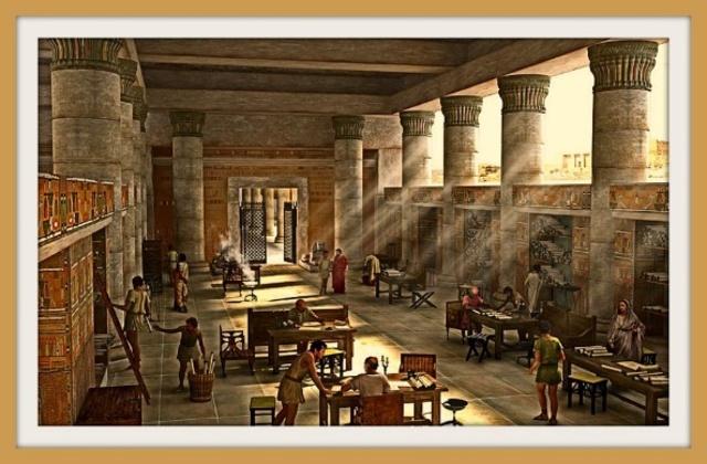 Se construyó la biblioteca de Alejandría.