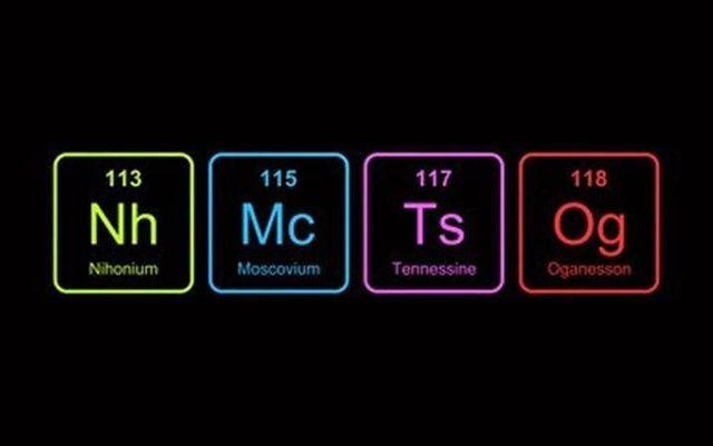 Se halla el téneso, elemento 117 en la tabla periódica.