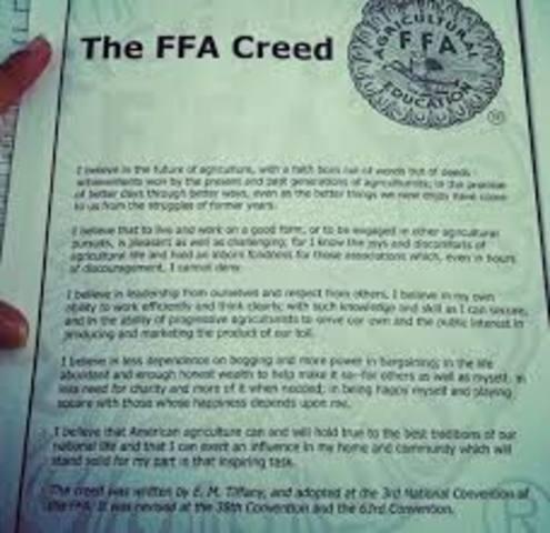 FFA Creed adpoted