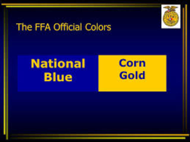 Official Colors are adopted. Star Farmer of America.