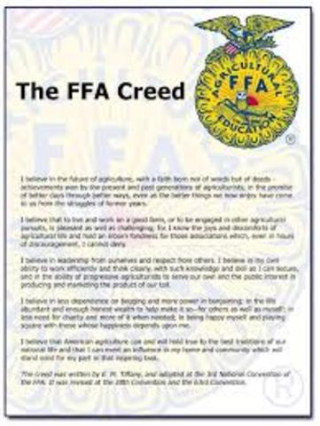 Official FFA Creed
