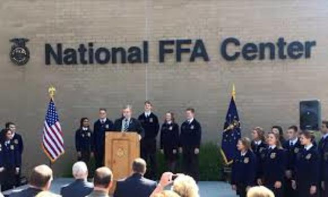 National FFA Center in Indianapolis, Ind., dedicated July 20.