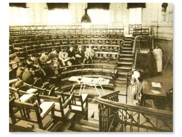 Se estableció en el Instituto Nacional un plan de estudios en medicina que incorporaba la anatomía.