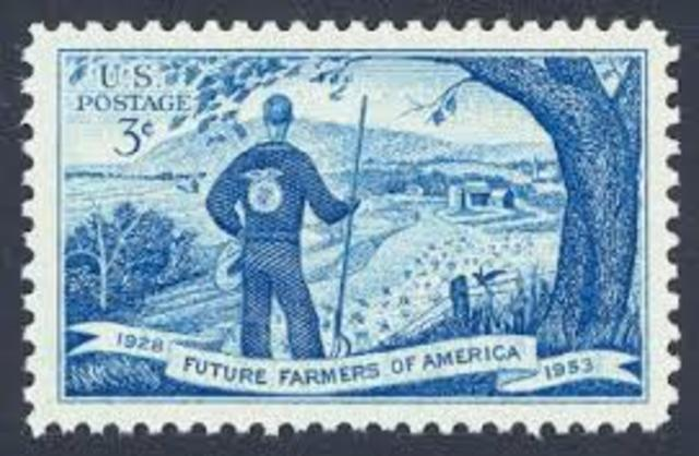 U.S. Post Office Department Issues A Stamp To The FFA