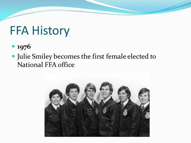 julie smiley: 1st female elected to national office