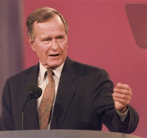 George H. W. Bush spoke at national convention