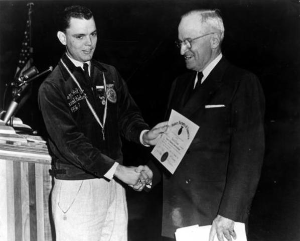 Former President Harry S. Truman spoke during the national convention.Former President Harry S. Truman spoke during the national convention.