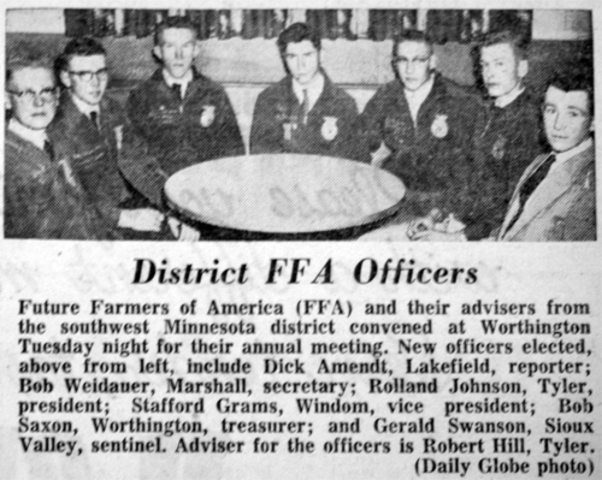 First National FFA Center dedicated in Alexandria, Va., on land that had originally been used as the national FFA camp.