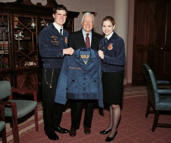 President Jimmy Carter addressed at the 51st national FFA convention