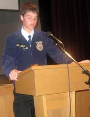 First won Public Speaking Event
