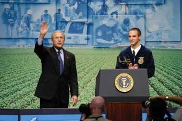 G. Bush speaks at convention