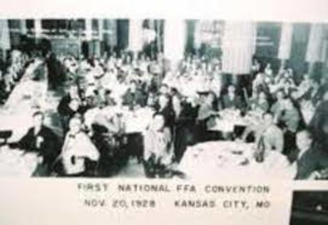 First FFA National Agricultural Career