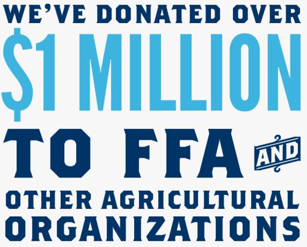 The National FFA Foundation raised $1 million