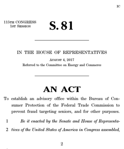 A bill was passed by the 81st Congress of the United States