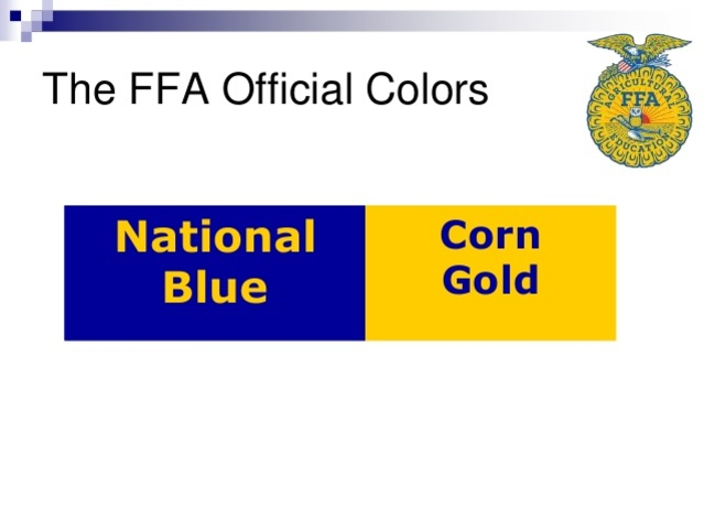 official colors are adopted.Star Farmer of America.