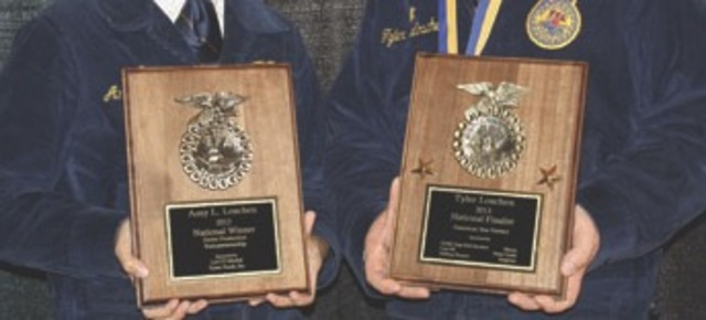 First national FFA agriculture proficiency award