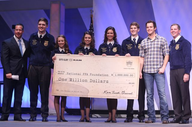 National FFA Foundation received $1 Million from Ford Motor Company