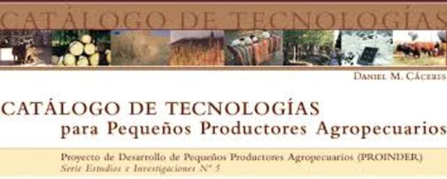 Proyecto de Desarrollo de Pequeños Productores Agropecuarios (PROINDER).