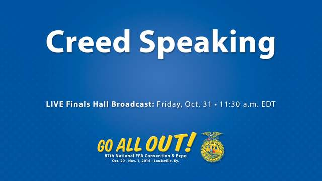 1st National Creed Speaking event