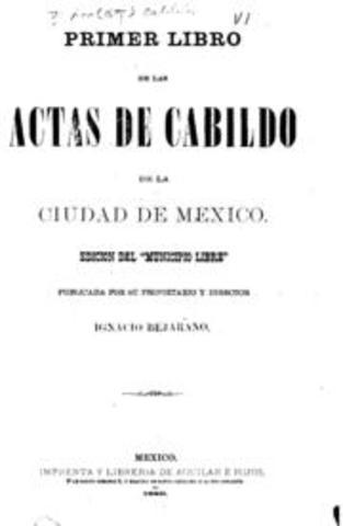 Primer Acta del Cabildo de la Ciudad de México