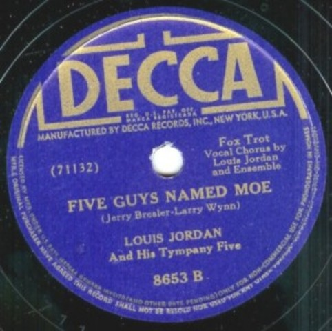 """Records """"Five Guys Named Moe"""""""