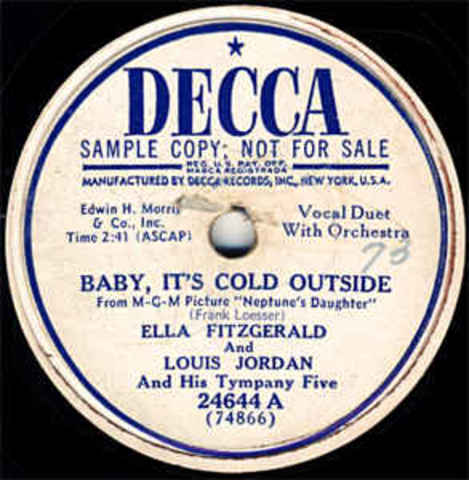 """Records """"Baby It's Cold Outside"""" with Ella"""