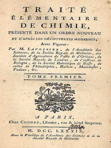 Lavoiser y su libro (Tratado elemental de la Química)