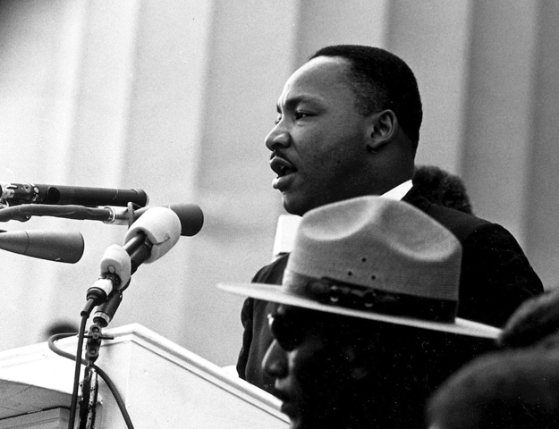 """Martin Luther King delivers """"I Have a Dream"""""""
